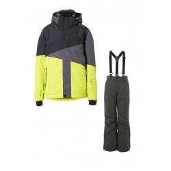 Chlapecký lyžařský komplet - bunda Idaho a kalhoty Footstrap Titanium