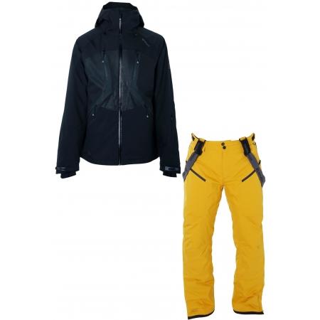 Pánský lyžařský komplet bunda Dark a kalhoty Hyena