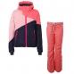 Dívčí lyžařský komplet bunda Cylla a kalhoty Sunleaf Hot Pink