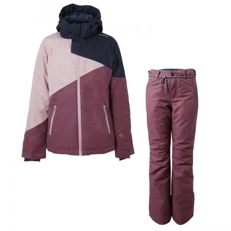 Dívčí lyžařský komplet bunda Cylla a kalhoty Sunleaf Pandora Pink