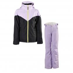 Dívčí lyžařský komplet bunda Sheerwater a kalhoty Sunleaf