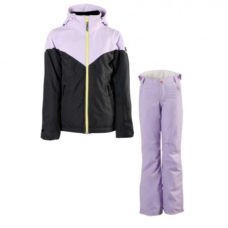 Dívčí lyžařský komplet bunda Sheerwater a kalhoty Sunleaf Lavender