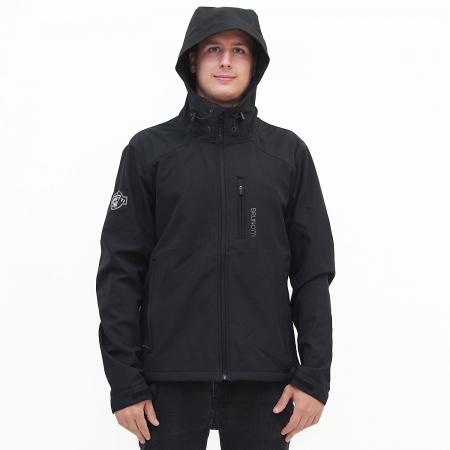 Pánská softshellová bunda Moskos Black (099)