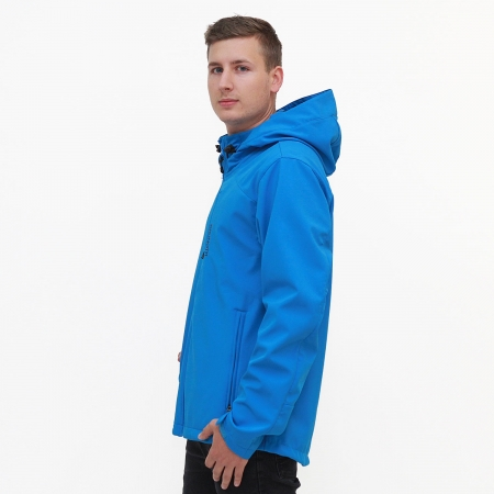 Pánská softshellová bunda Neon Blue (0454)