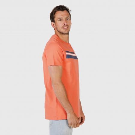 Pánské triko Tim-Print Bright Coral (0037)