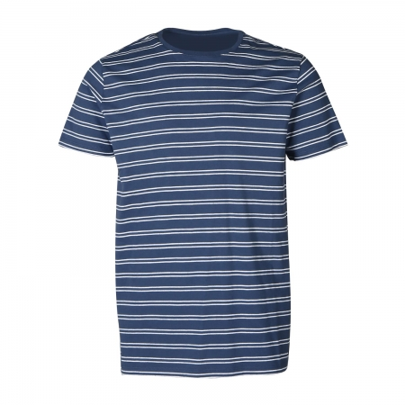 Pánské triko Tim-Twin-Stripe Jeans Blue (0524)