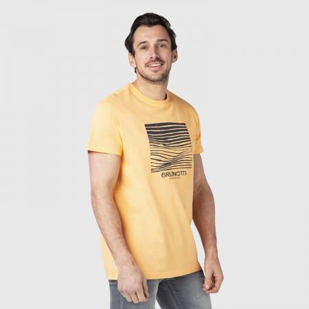 Pánské triko Tim-Print (Faded Orange-2497)