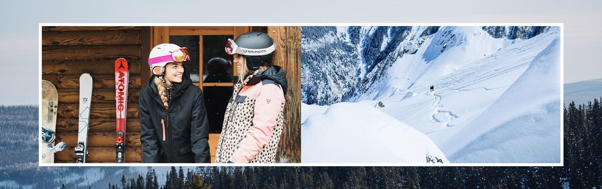 Dámské lyžařské brýle a helmy